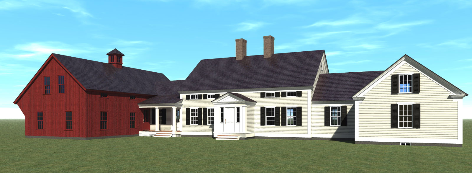 Nice House Plans New England Farmhouse Part - 2: Click Here To Enlarge The Image. The New England Farmhouse ...